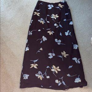 Dark brown full length skirt